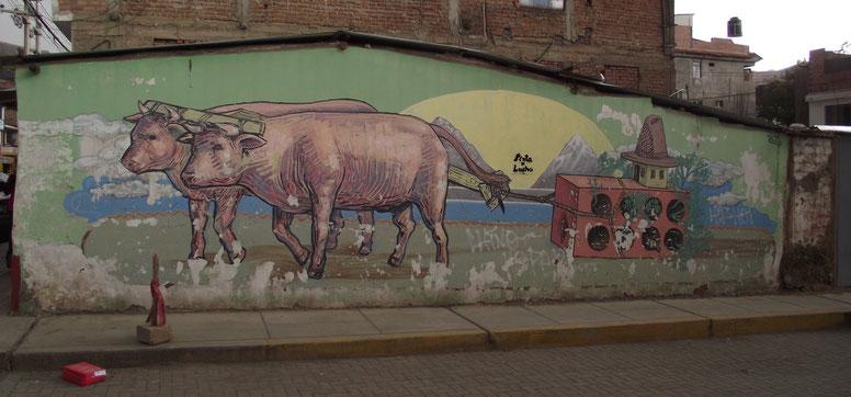 street art Huaraz Peru