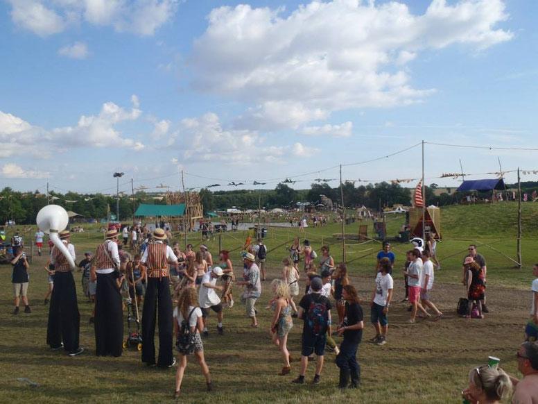 Stilts, Secret Garden Party, music festival, England, UK