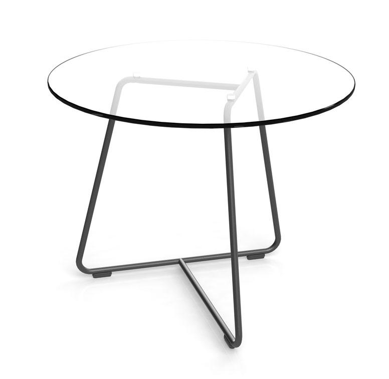 Züco, Beistelltisch, Drahtgestell, Glasplatte, minimalistisch, Averio Tisch