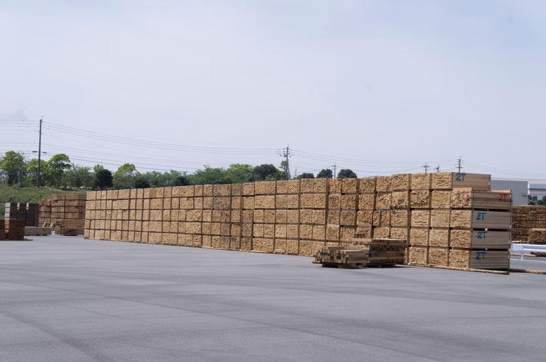 ラミナの在庫 年間製品生産量7~8万m3の見込み