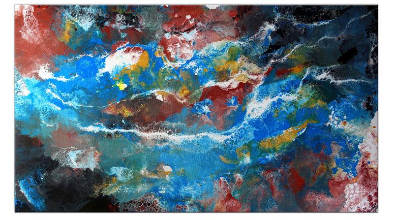 Underwater Unterwasserwelt gemalt abstrakte Kunst Praxis Bild 80x80
