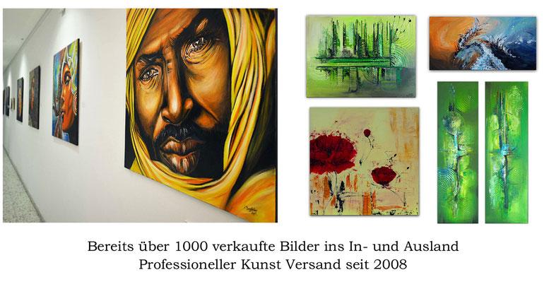 Über 1000 verkaufte Bilder und Gemälde ins In und Ausland