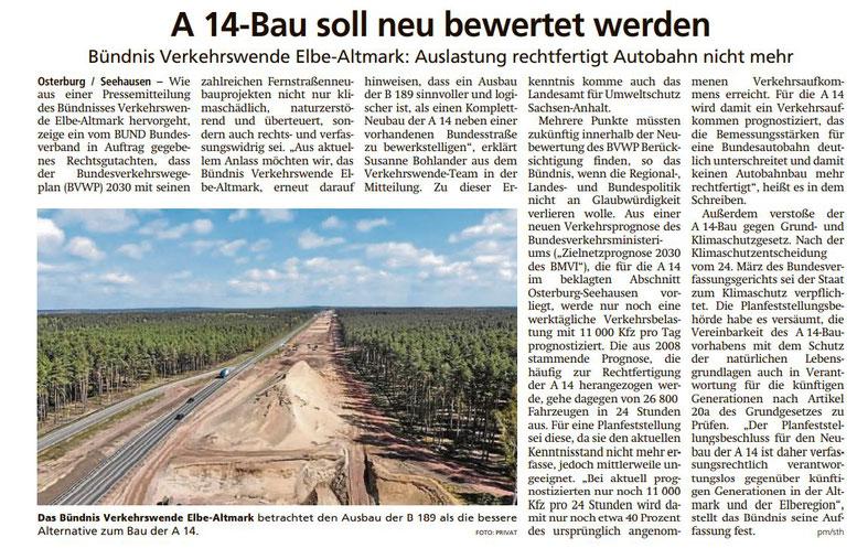 Altmark Zeitung vom 11.10.2021 (östliche Altmark)
