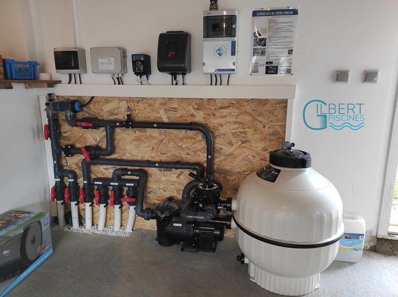 Local_technique_piscine_électrolyseur_AKERON_regulateur_PH _Les_Barthes_82100
