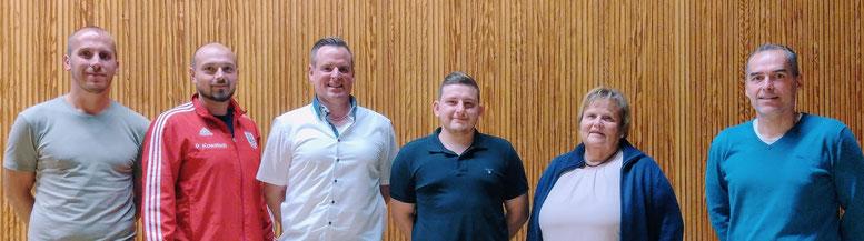 Das neue Vorstandsteam des SV DIstelhausen