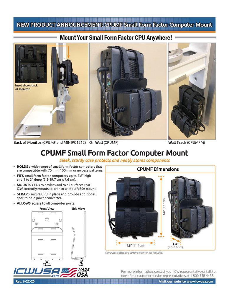 スモールフォームファクタ PC(小型PC)用マウント発売開始