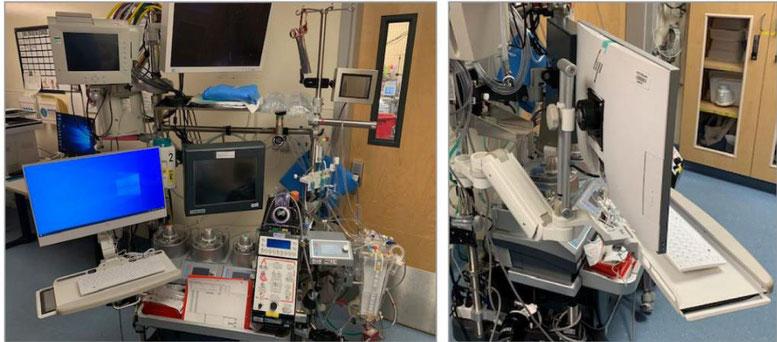 人工心肺装置  ICWUSA UL180シリーズ ポールマウント ディスプレイキーボード用アーム