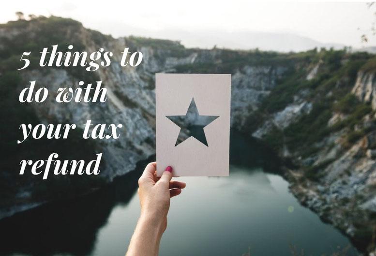tax return, wise tax spending, use tax return, do with tax return, spend well,