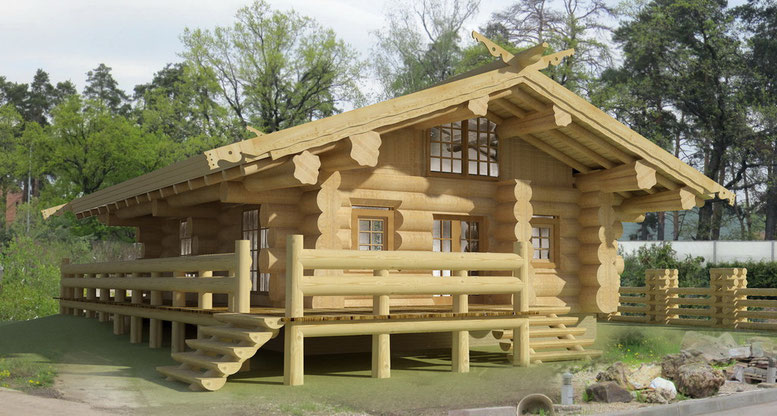 немекий деревянный дом,каркас,бревно,канадская технология