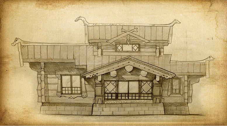 фасад кедрового дома из лафета