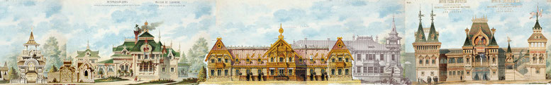 Комплекс домов в русском стиле