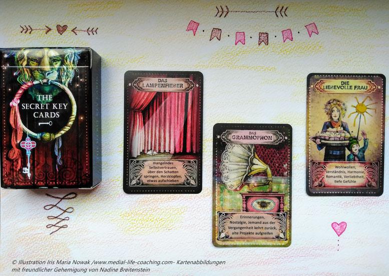 Orakel, Secret Key Cards, Kartenlegen