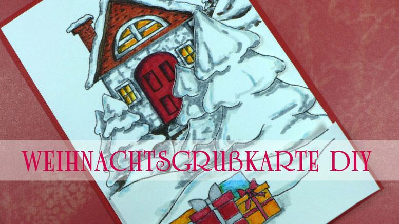 """Weihnachten - Weihnachtsgrußkarte """"Heiligabend"""" basteln - DIY-Projekt"""