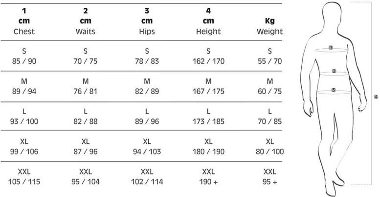 Chest:胸囲/Waits:腹囲/Hips:尻囲/Height:身長/Weight:体重