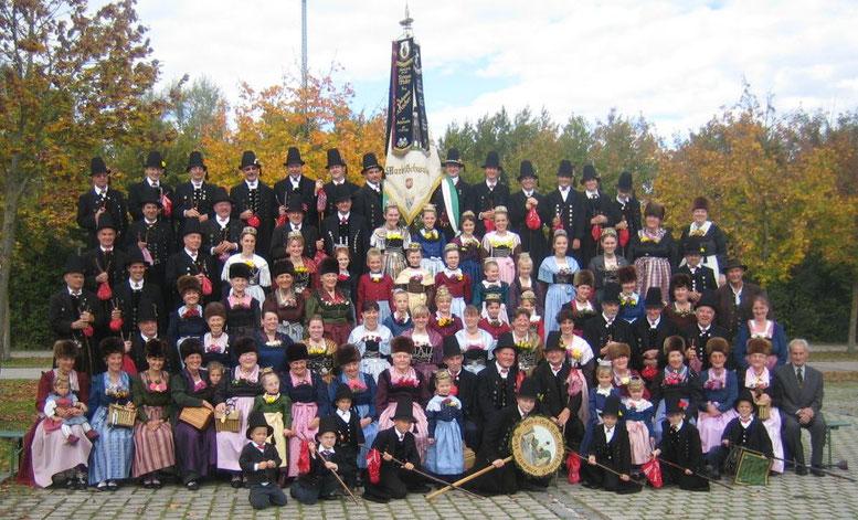 Gruppenbild zum 100jährigen Gründungsfest 2008