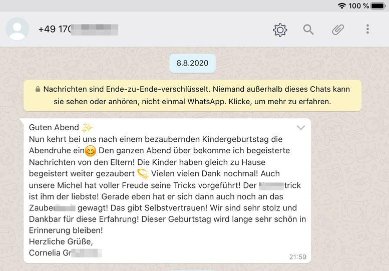 Idee-Kindergeburtstag-Zauberina-NRW-Erfahrung