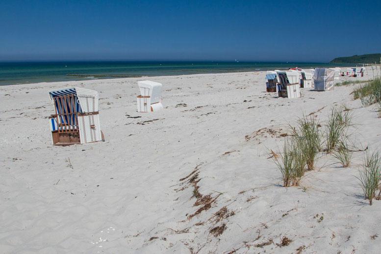 Radtour auf Hiddensee, Strand von Vitte