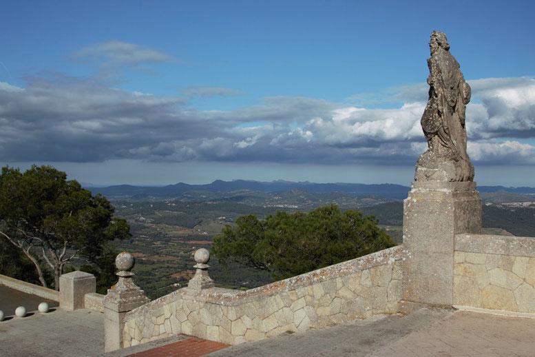 Aussicht Ermita de Sant Salvador; Mallorca