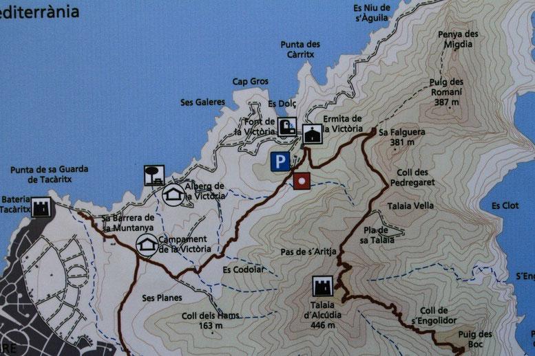Wanderung Ermita de Victoria - Talaia d'Alcudia