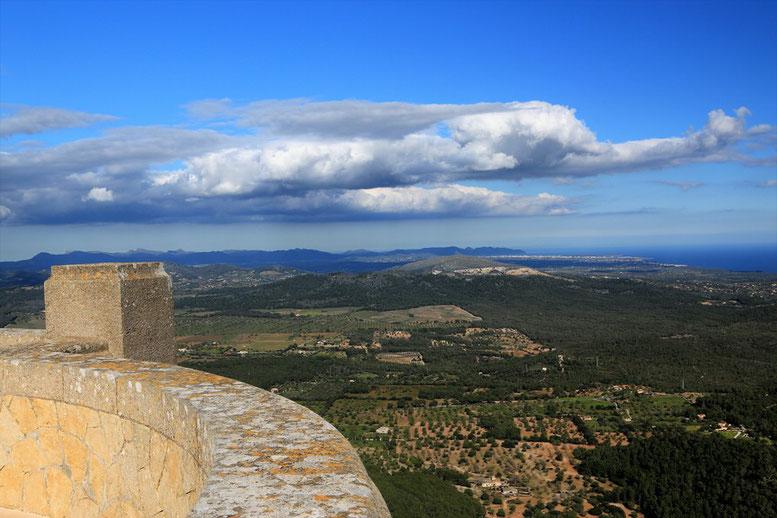 Aussicht Ermita de Sant Salvador, Mallorca