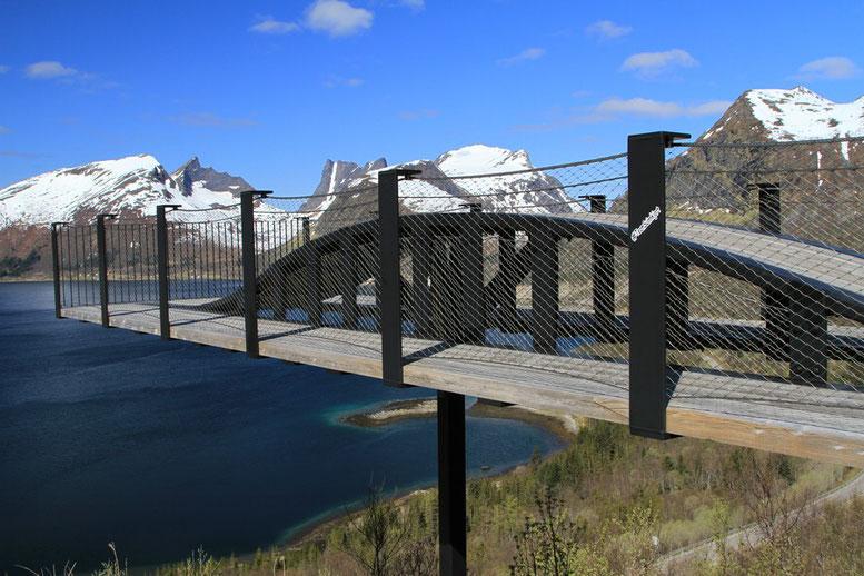 Senja, Bergsbotn, Aussichtsplattform