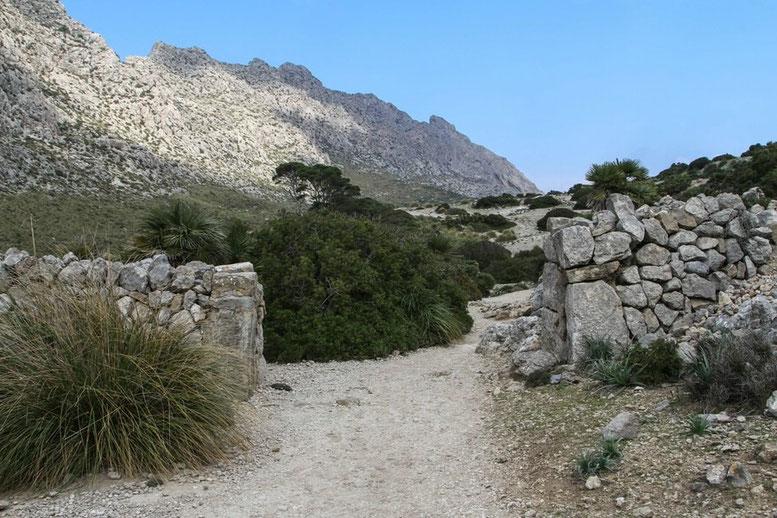 Wanderung Vall de Bóquer, Cala de Bóquer, Mallorca