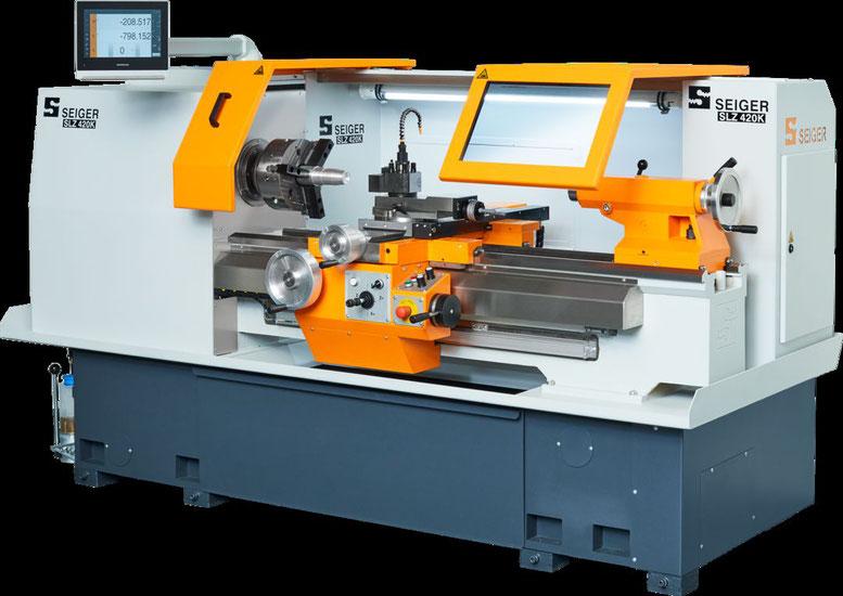 SEIGER Konventionelle Drehmaschine SLZ 420K Schulungsmaschine für Lehrwerkstätte, lehrwerkstatt, maschine für ausbildung