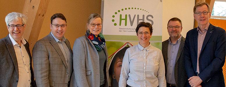 Der Vorstand des niedersächsischen Landesverbandes der Heimvolkshochschulen e.V. im Jahr 2019