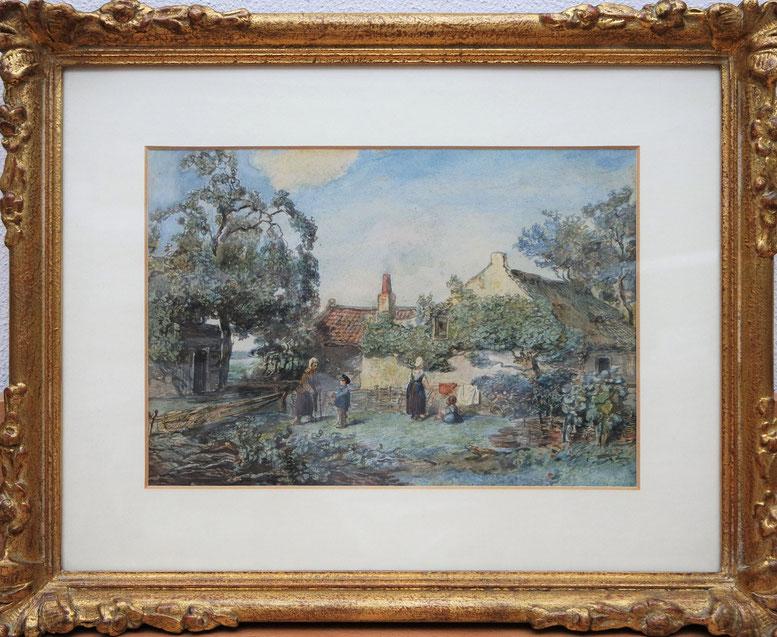 te_koop_aangeboden_een_aquarel_van_de_nederlandse_kunstschilder_willem_roelofs_1822-1897_haagse_school