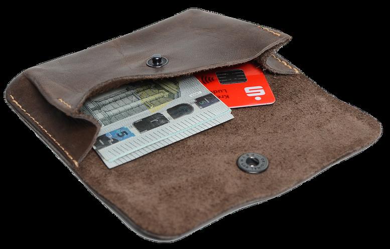 Kleingeldbörse aus Leder