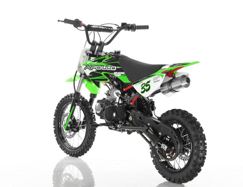 APOLLO DB-35 125cc Manual Clutch Dirt Bike, 4 stroke, Air Cooled