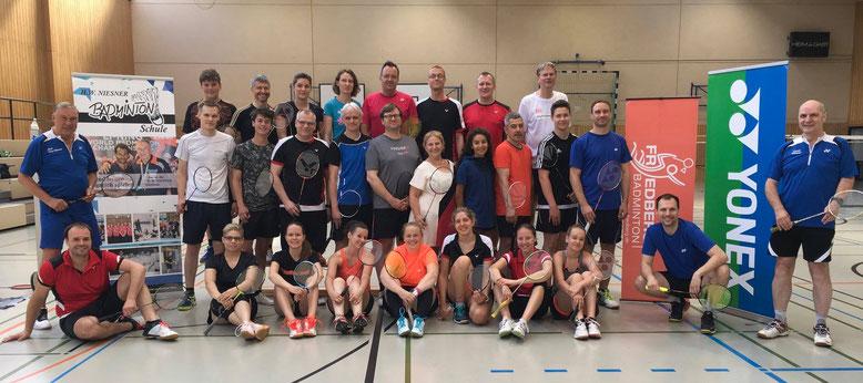 Badminton Camp 2018 mit Hans Werner Niesner und Trainerteam