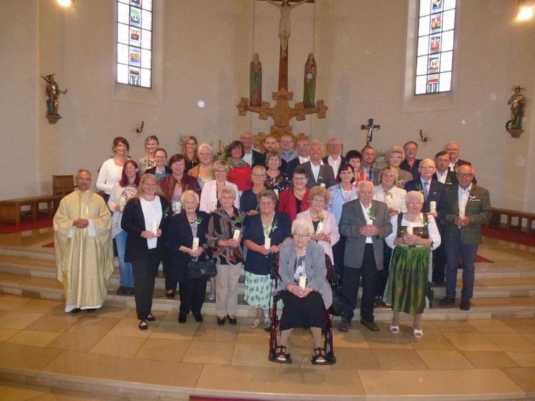 Jubilare der Jubelkommunion am 14.07.2019