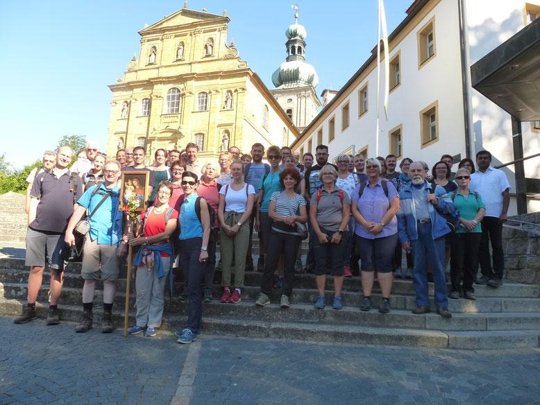 Teilnehmer an der Fußwallfahrt nach Amberg 2019 (Bild: Sigfried Bock)