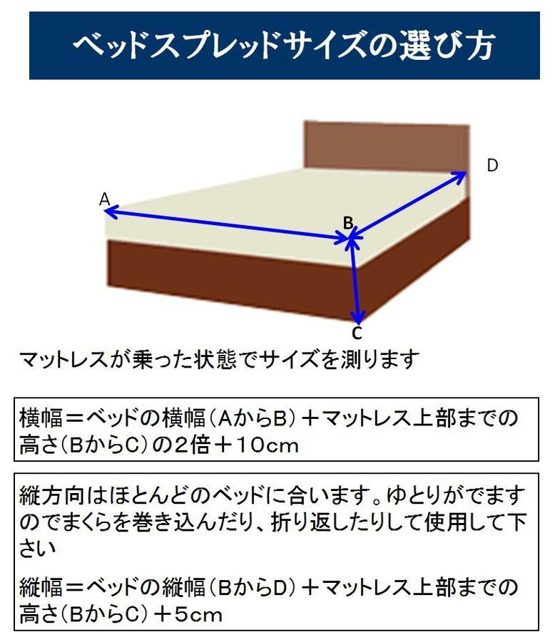 ベッドスプレッド サイズ選び方