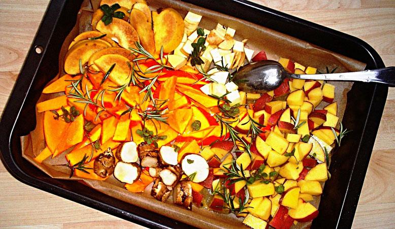 Buntes Gemüse mit Rosmarin