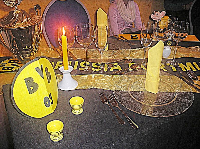Tischdekorationen, Borussia Dortmund