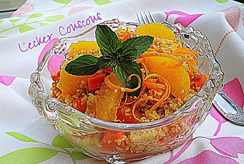 Möhren- Orangen- Couscous