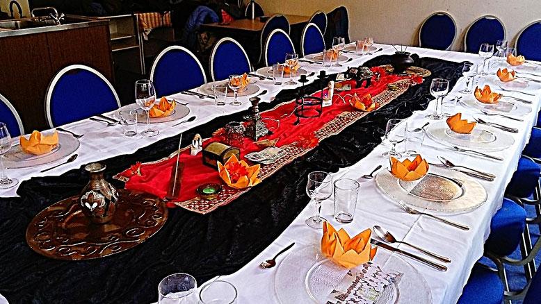 indische Tischdekoration