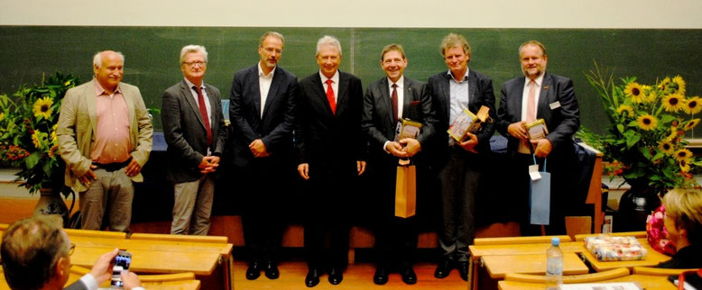 Speakers, from left to right: Mr Gerhard Baab, Prof Peter Stehle, Prof Ulrich Schurr, Prof Georg Noga, Prof Georg F. Backhaus, Dr Andreas Mager, Mr Franz-Josef Schockemöhle