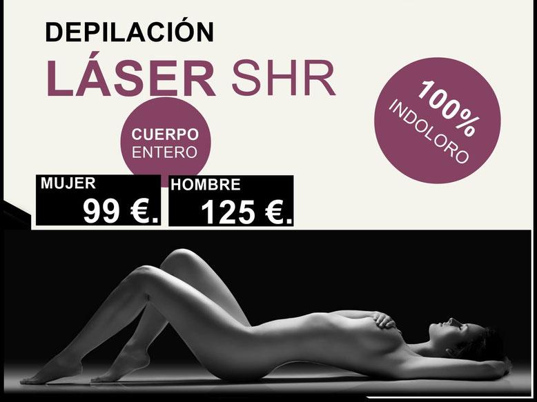 Depilación láser shr Madrid