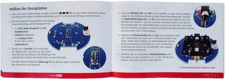 the manual of the robot kit tib