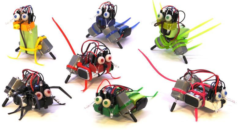 die sieben varikabi Roboterbausatz-Modelle