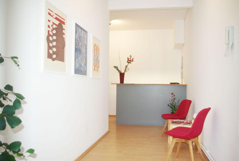 Empfangsbereich Physiotherapie Pernzlauer Berg Berlin