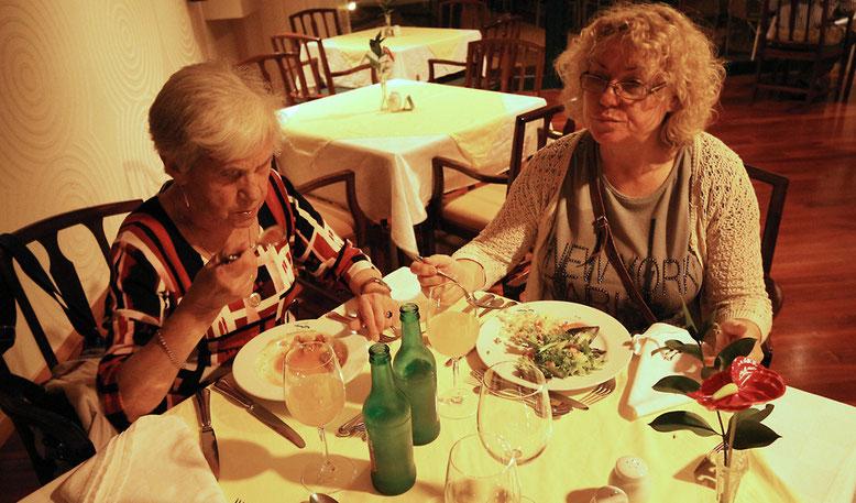 Unser erstes Abendessen im Hotel Madeira Panoramico.