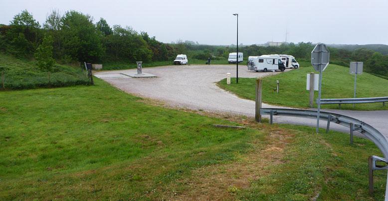 Stellplatz an der D 111e oberhalb Port d'Antifer.