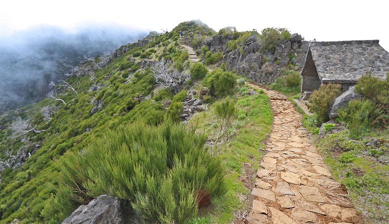 Wanderung vom Parkplatz Achada do Teixeira zum Pico Ruivo