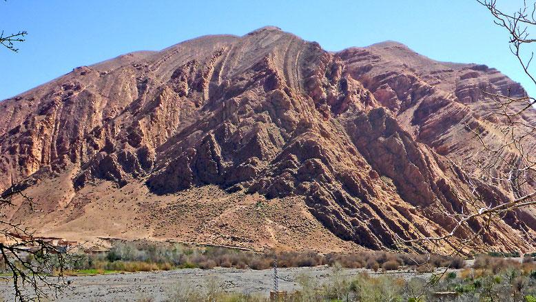 Hier wurde gleich der ganze Berg in Falten gelegt.