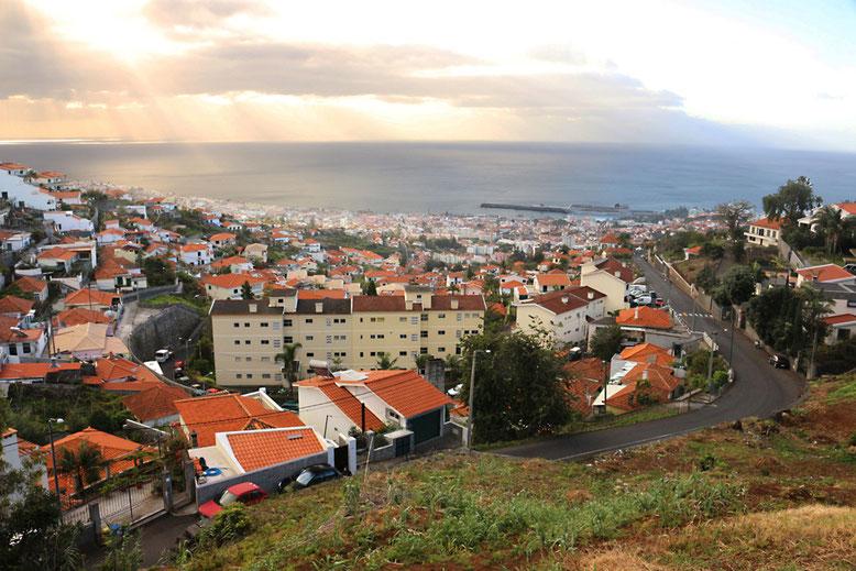 Von Funchal aus führt unser Weg zunächst in Richtung Monte.