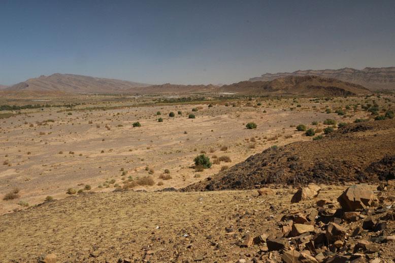 Das Draa-Tal am Abzweig der R108, ca. 30 km vor Agdz.